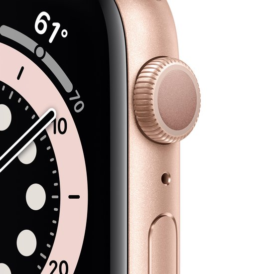 Apple Watch Series 6 40mm Goud crown