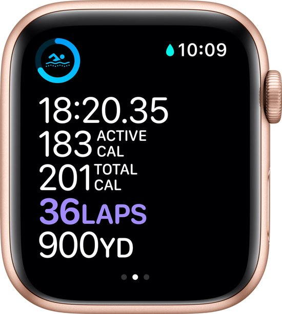Apple Watch Series 6 40mm Goud hardlopen