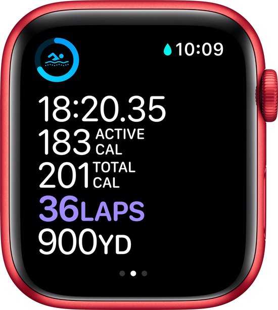 Apple Watch Series 6 44mm Rood Sport
