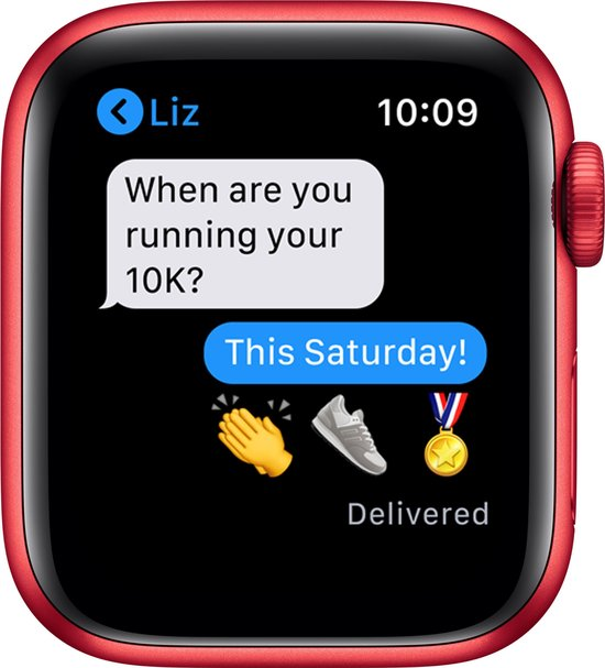 Apple Watch Series 6 44mm Rood iMessage